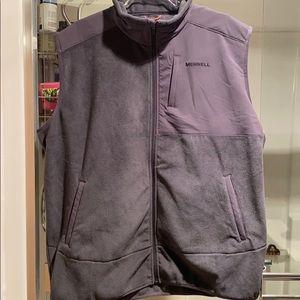 NWOT Merrell mixed media zippered vest XL